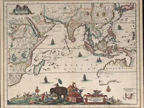 Map of Indian Ocean by Carel Allard (1648-c.1709), courtesy of National Library of Australia.
