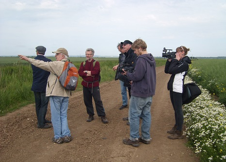 Steve Daniels and others at Ousefleet, Performing Geographies workshop, June 2011